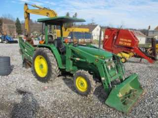 JOHN DEERE 1070 4X4 TRACTOR LOADER BACKHOE WITH CANOPY