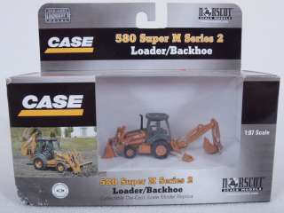 HO 1/87 Scale Case 580 Super M Series 2 Loader/Backhoe Tractor