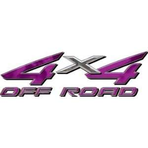 Full Color 4x4 Offroad Truck Decals in Purple Automotive