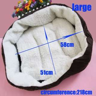 Dog Cat Kitten Soft Fleece Winter Warm Bed House Nest Pad Mat