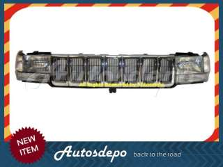 1996 1997 1998 JEEP GRAND CHEROKEE CHROME GRILL GRILLE