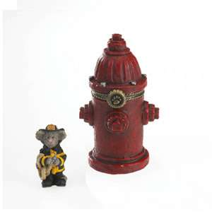 Boyds Bears Fire Hydrant Treasure Box 4022179