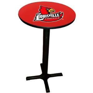Louisville Cardinals College Laminated Pub Table w/black trim & black