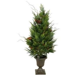ft. Potted Christmas Tree   High Definition PE Needles   Cedar Pine