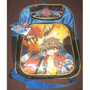 Bakugan Battle Brawlers Blue BackPack Large 16 inch Toys & Games