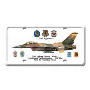 F 16C Fighting Jet Air Force Plane Metal License Plate