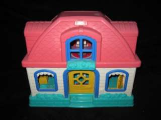FISHER PRICE LITTLE PEOPLE DOLLHOUSE LOADED PRESCHOOL DAYCARE TOY LOT