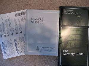 2011 FORD CROWN VICTORIA ,GRAND MARQUIS OWNERS MANUAL SET