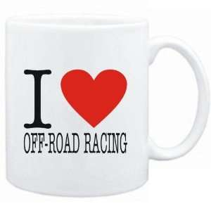 Mug White  I LOVE Off Road Racing  CLASSIC Sports