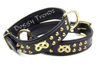 LEATHER DOG COLLAR STAFFORDSHIRE BULL TERRIER STAFFY