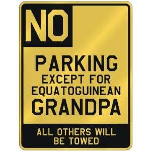 FOR EQUATOGUINEAN GRANDPA  PARKING SIGN COUNTRY EQUATORIAL GUINEA