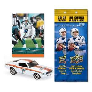 Miami Dolphins 1967 Ford Mustang Fastback Die Cast with John Beck Card