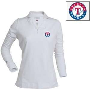 Texas Rangers Womens Fortune Polo by Antigua   White