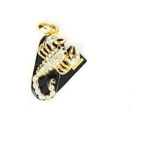 Awesome 8GB Crystal Golden Cubic Stone Scorpion USB Flash