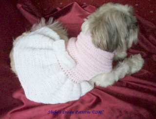 DOG CLOTHES CROCHET PATTERN DRESS S, M, L, XL #66