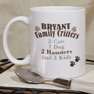 Family Critters Personalized Coffee Mug