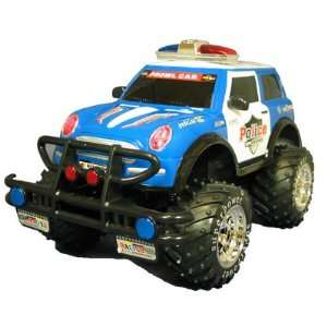 Mini Cooper Police Car Monster Truck RC Electric Toys & Games