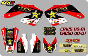 MX GRAPHICS STICKERS DECAL KIT HONDA CR CR125 CR250 2000 2001