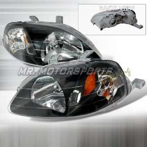 HONDA CIVIC JDM BLACK HEADLIGHTS Automotive