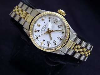 Ladies Two Tone 14k Yellow Gold/Stainless Rolex Date Watch