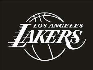 Los Angeles Lakers Vinyl Car Window Sticker / Decal (White)