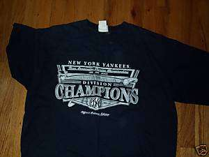 NY NEW YORK YANKEES T SHIRT AL EAST DIVISION CHAMPIONS