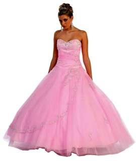 Womens Strapless Ball Gown Long Prom Dress Corset Back Tulle New many
