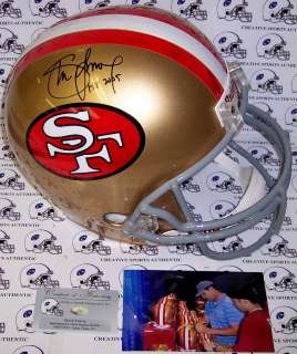 YOUNG SIGNED SAN FRANCISCO 49ERS FULL SIZE HELMET HOF 2005