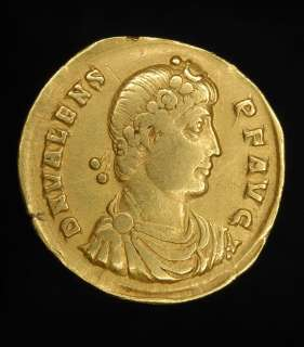 Ancient Roman Gold Solidus of Emperor Valens