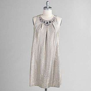 Womens Sleeveless Pleated Jewel Dress  Scarlett Nite Clothing Womens