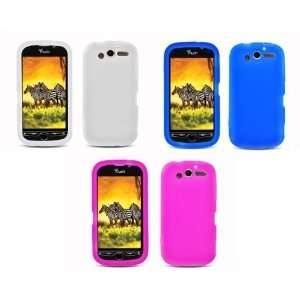 myTouch 4G (T Mobile) Combo Pack   3 Premium Silicone Cover Cases