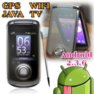 Android 2.3.6 Unlocked Dual Sim AT&T GPS/WIFI/TV Flip Smart