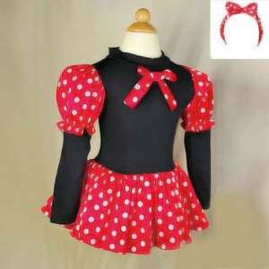 Lovely Girls Minnie Mouse Party Dress Costume Size 2T 7