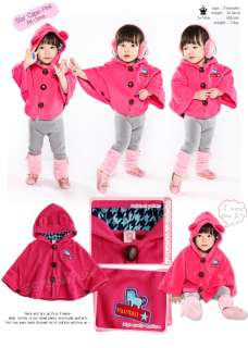 Made in Korea Star Cape Baby Boy Girl Infant Warm Clothing / JK 300