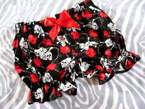 Black,Red,White Skulls,Roses Frilly Knickers,Bloomers
