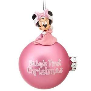 Disney World Park Minnie Mouse Babys First Christmas