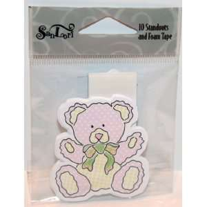 SanLori 10 Pack Cute Teddy Bear #D 99 Die Cut Standouts   Add On With