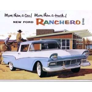 1957 FORD RANCHERO Sales Brochure Literature Book