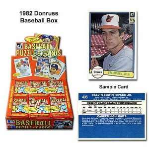 Donruss Mlb 1982 Unopened Trading Card Box Sports
