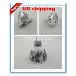 NEW5x 4W Warm White MR16 High Power light bulb focus 4 LED spot Lamp