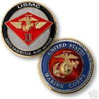 USMC MARINE CORPS 3RD AIR WING COLOR CHALLENGE COIN