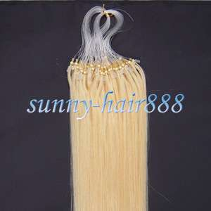 22 Loops/Micro ring human hair Extensions100s#613,&50g