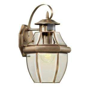 Hampton Bay Brushed Nickel 1 Light Motion Sensing Outdoor Lantern