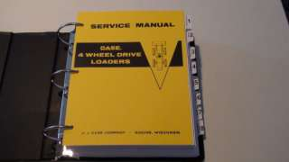 Case W7 Four Wheel Drive 4x4 Loader Service Manual NEW