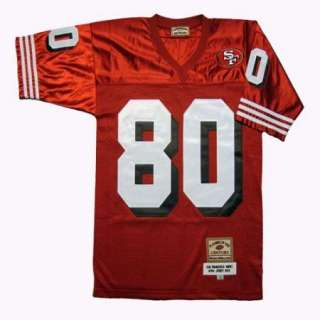 Jerry Rice #80 San Francisco 49ers Throwback Red Sewn Mens Size Jersey