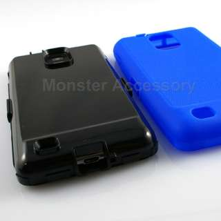 Blue Double Layer Hard Case Cover Samsung Infuse 4G