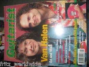 GUITARIST MAGAZINE uk guitar tab RARE 1993 VAN HALEN