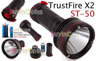 TrustFire X2 ST 50 1300 Lumens LED Torch Flashlight