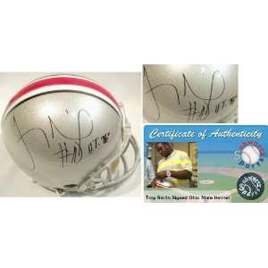 Troy Smith Signed Ohio State ProLine Helmet w/HT Sports