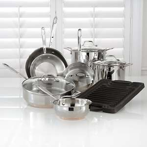 12 piece Stainless Steel Cookware Set by All Clad